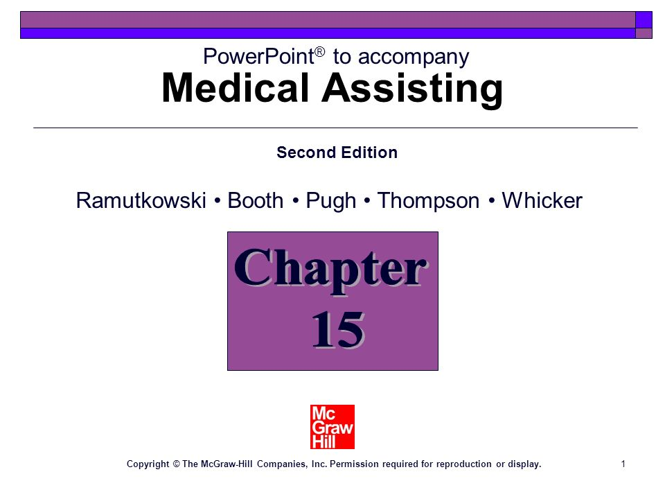 Medical Assisting Chapter 15
