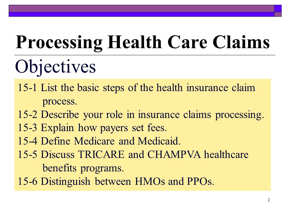 Processing Health Care Claims