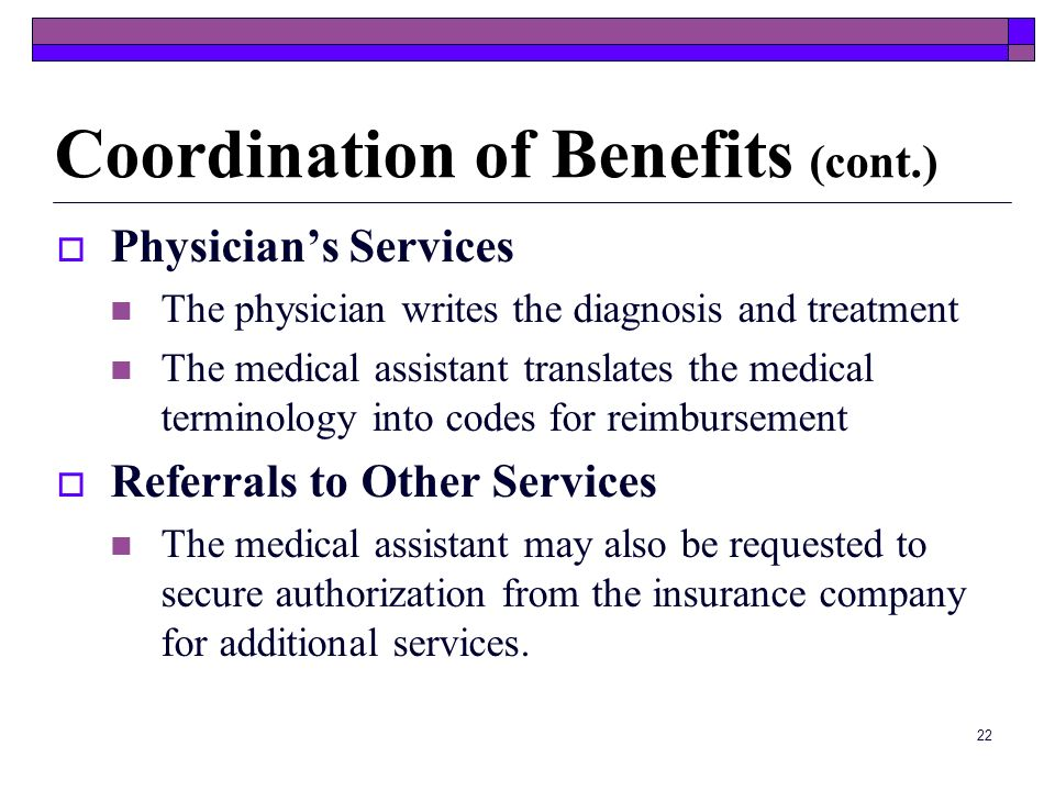 Coordination of Benefits (cont.)