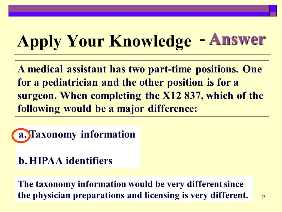 Apply Your Knowledge - Answer