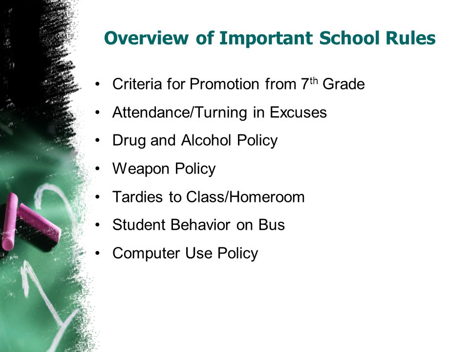 Overview of Important School Rules