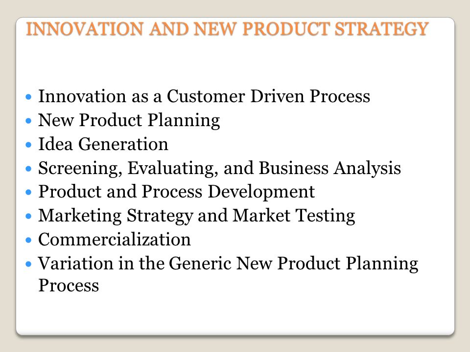 Innovation and new product strategy ppt download for Innovative product development companies