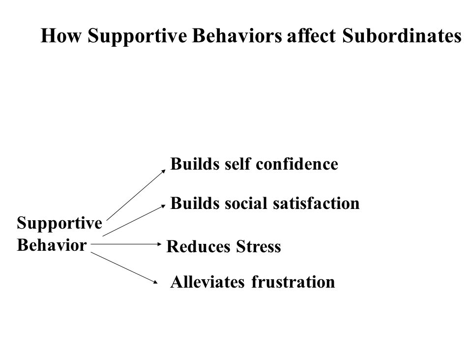 How Supportive Behaviors affect Subordinates