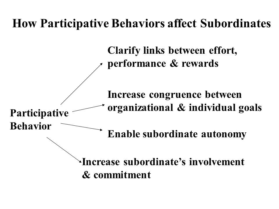 How Participative Behaviors affect Subordinates