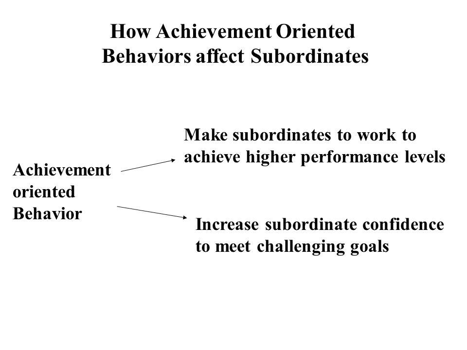 How Achievement Oriented Behaviors affect Subordinates