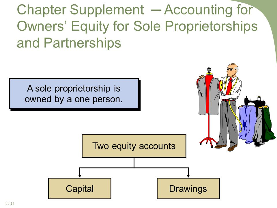A sole proprietorship is owned by a one person.