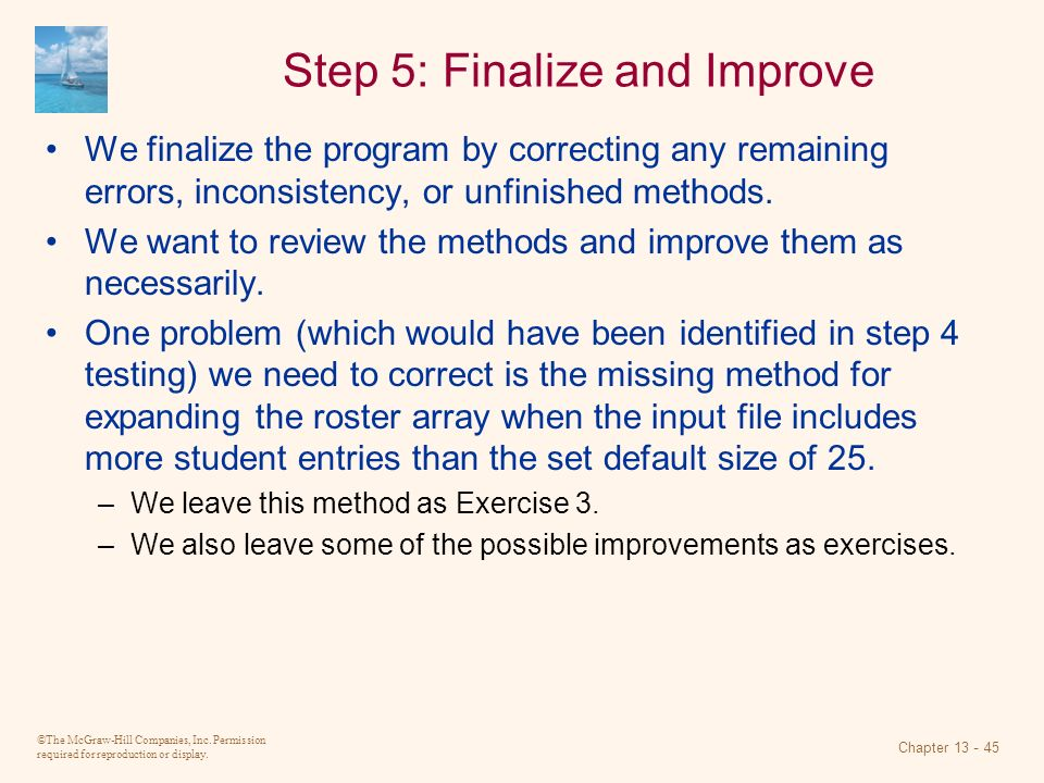 Step 5: Finalize and Improve