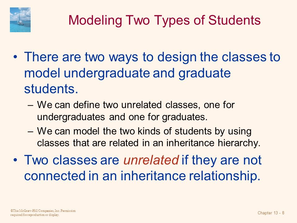 Modeling Two Types of Students