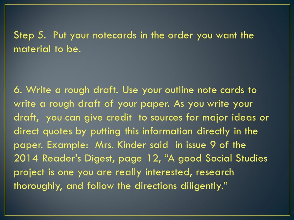 how to write a research paper ppt video online  put your notecards in the order you want the material to be