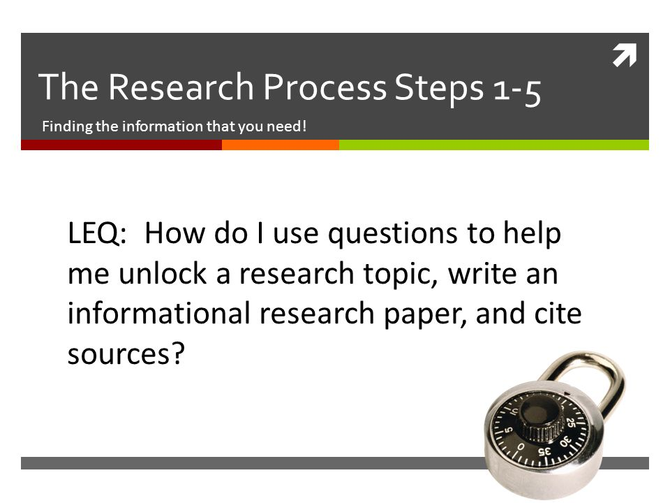 steps in the process of writing a research paper Writing a history paper is a process successful papers are not completed in a single moment of genius or inspiration, but are developed over a series of steps when you first read a paper prompt, you might feel overwhelmed or intimidated.