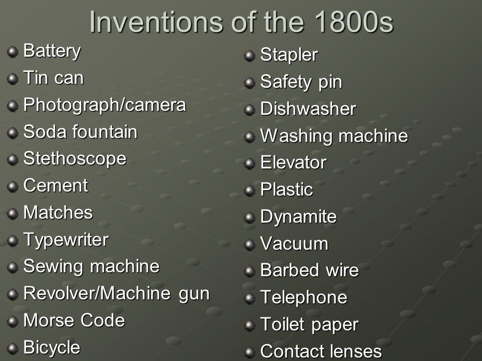Thesis on historical inventors of 1800's