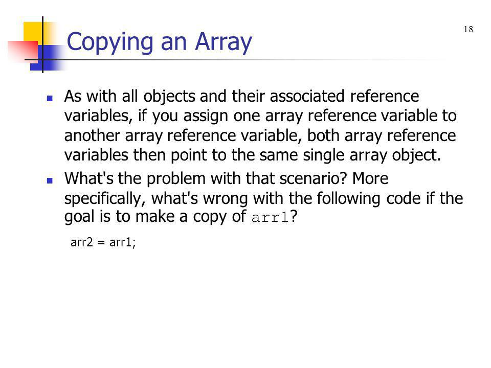 Copying an Array 18.