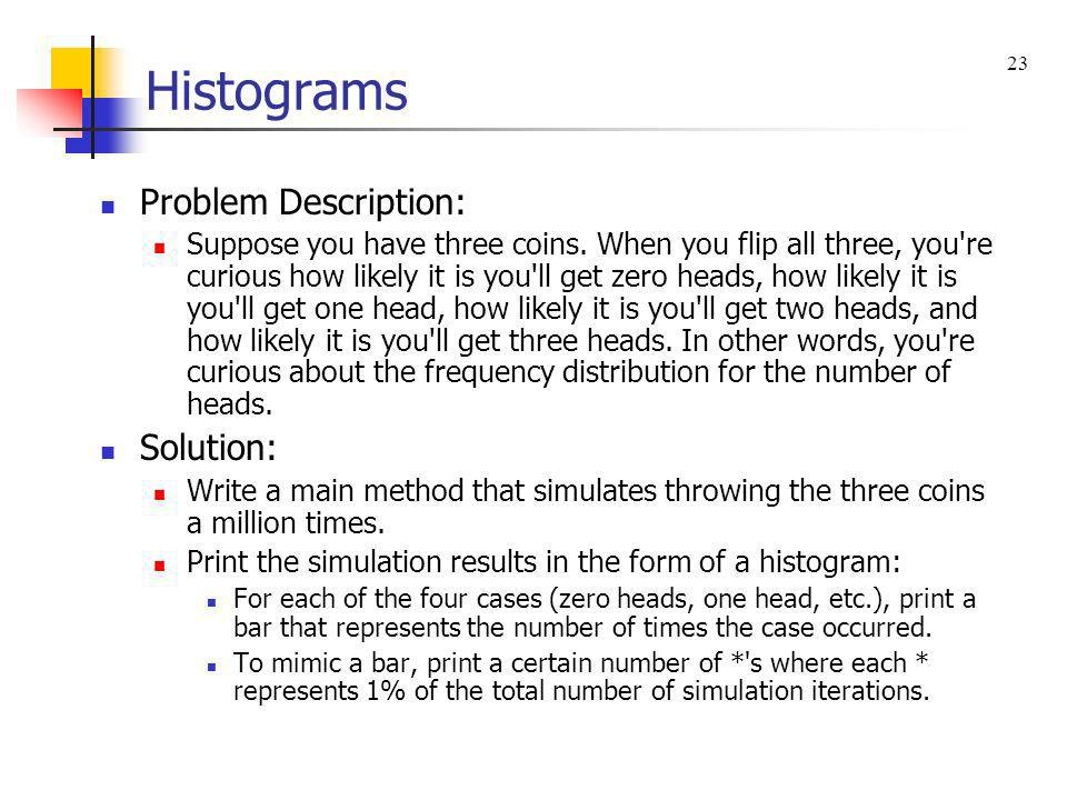 Histograms Problem Description: Solution: