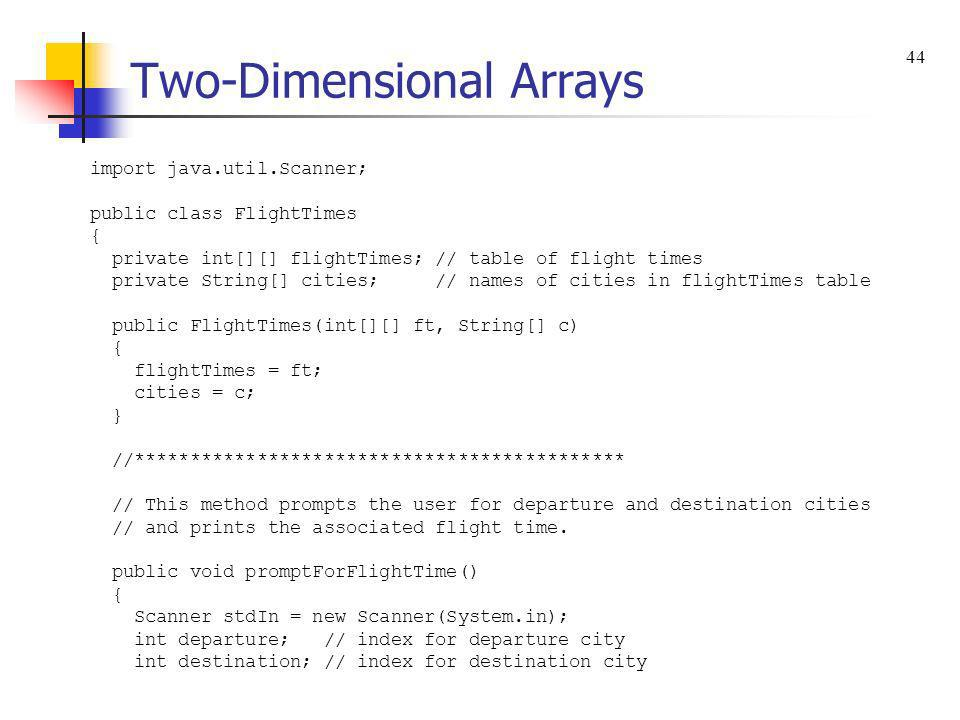 java how to return two arrays from a method