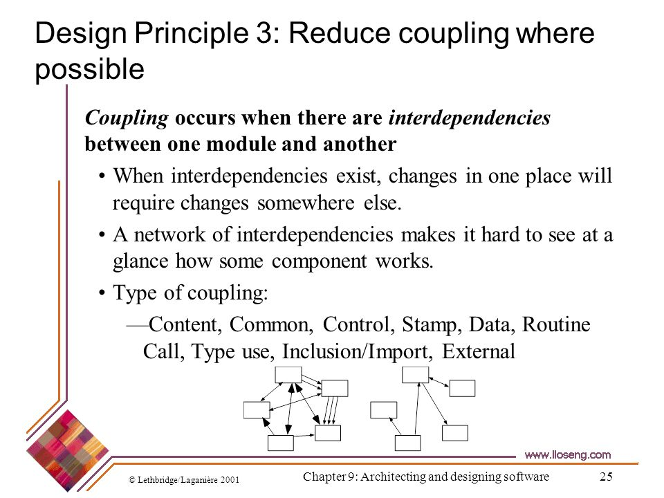 Design Principle 3: Reduce coupling where possible