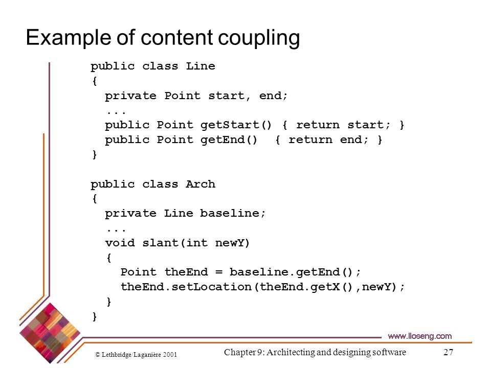 Example of content coupling