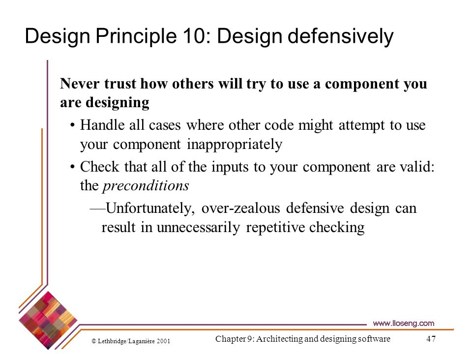 Design Principle 10: Design defensively