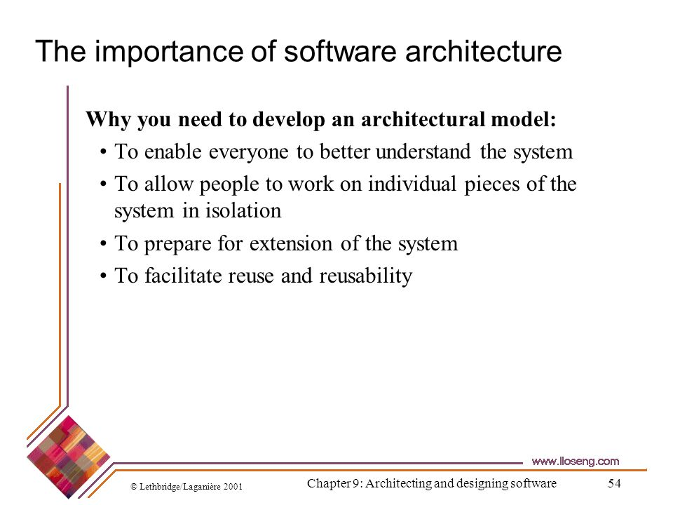 The importance of software architecture