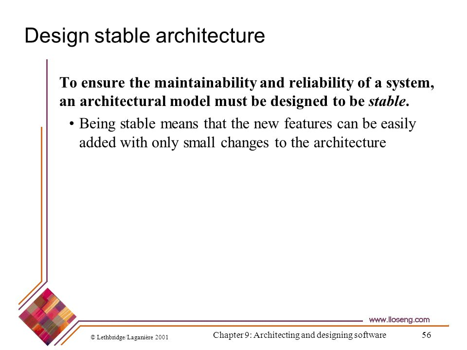 Design stable architecture