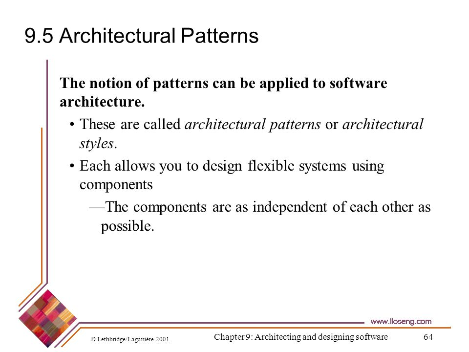 9.5 Architectural Patterns