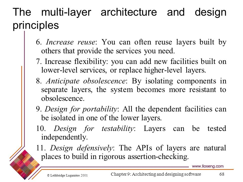 The multi-layer architecture and design principles