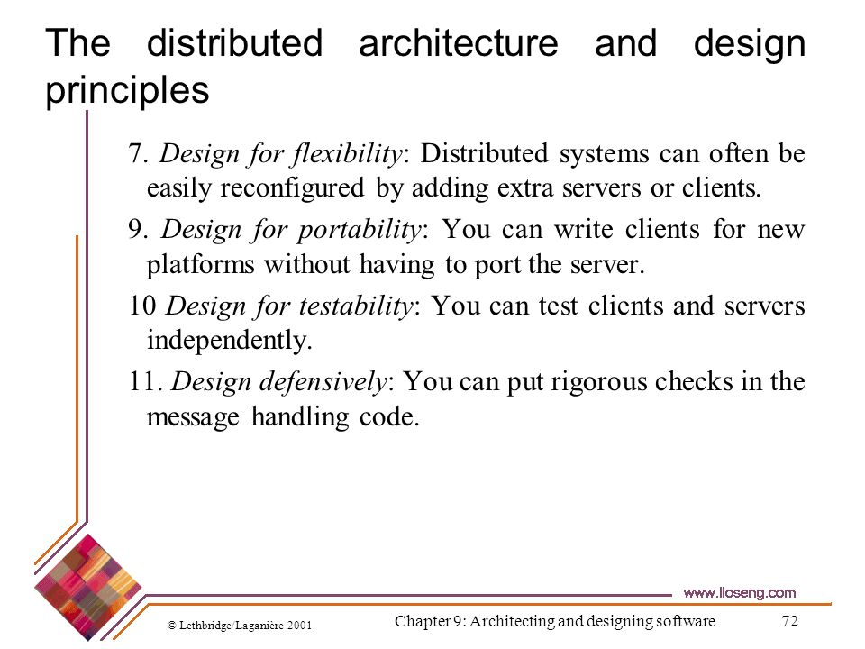 The distributed architecture and design principles