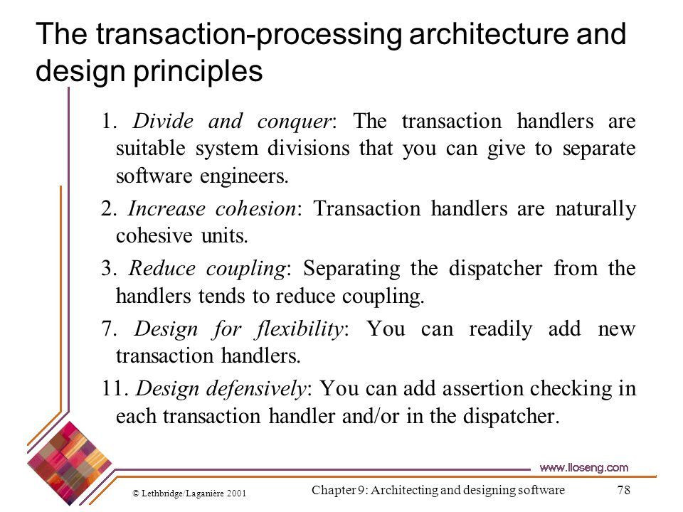 The transaction-processing architecture and design principles