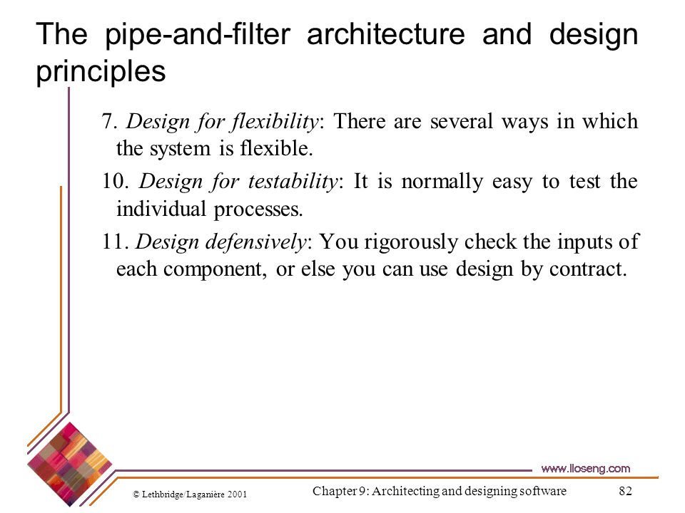 The pipe-and-filter architecture and design principles