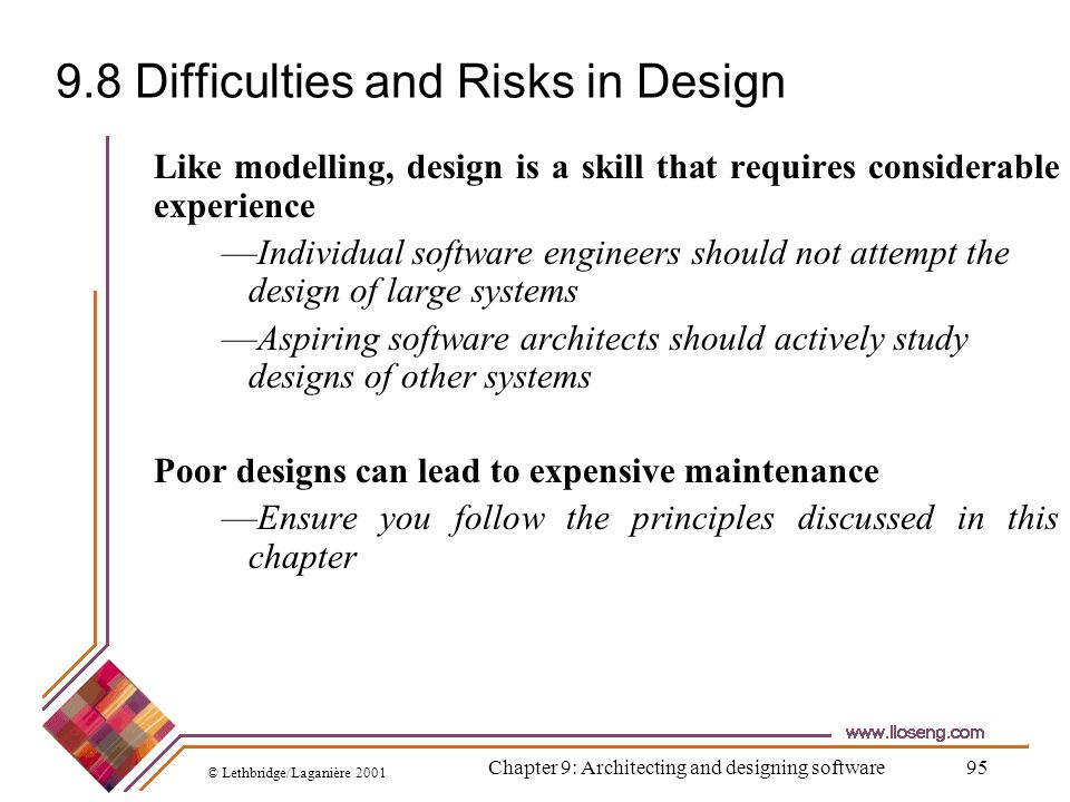9.8 Difficulties and Risks in Design