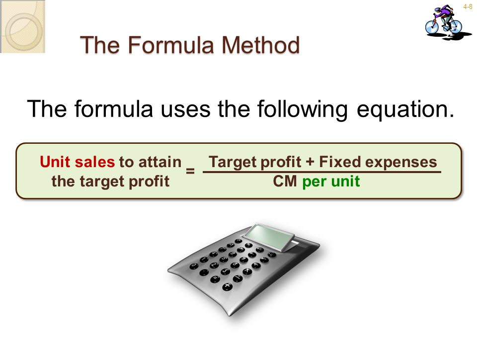The formula uses the following equation.