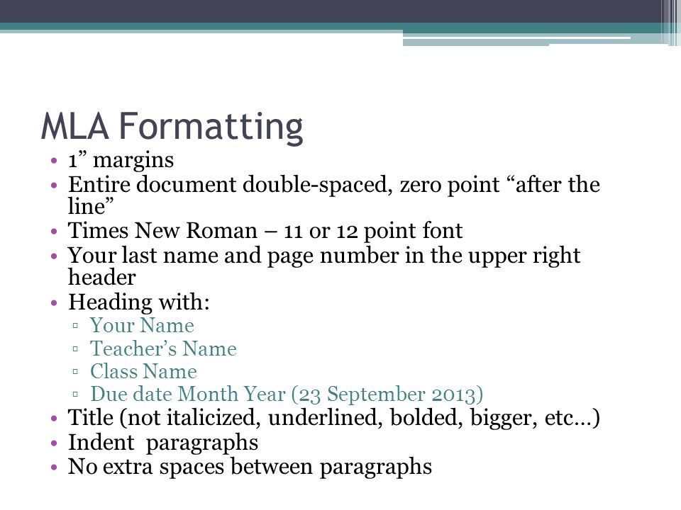 organizing a formal paragraph