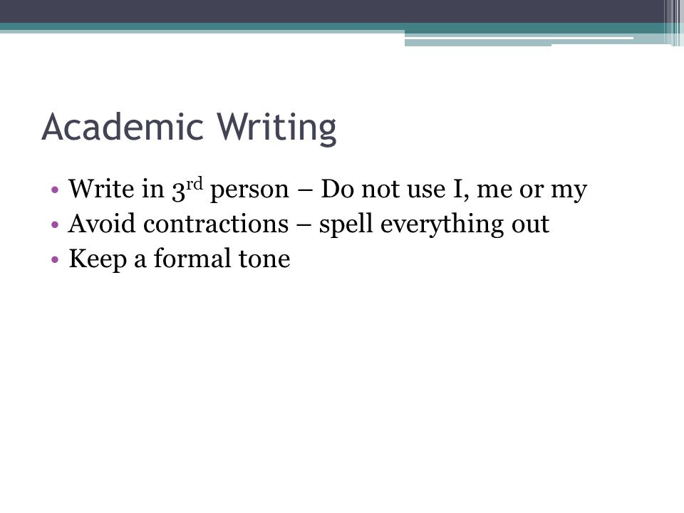 Extended Essay: Formal vs. Informal Writing