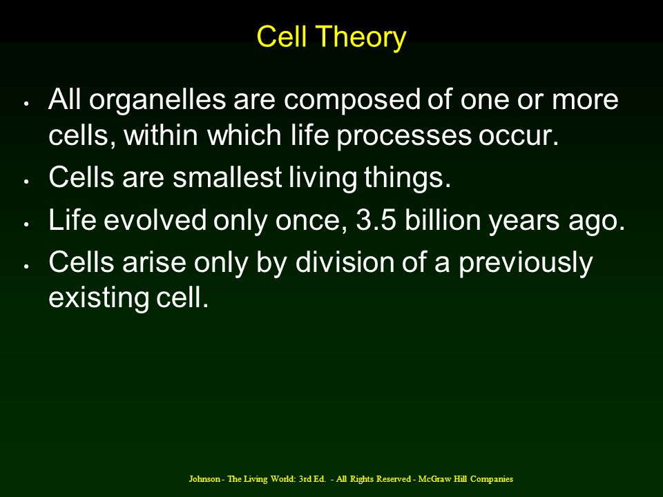 Cells are smallest living things.