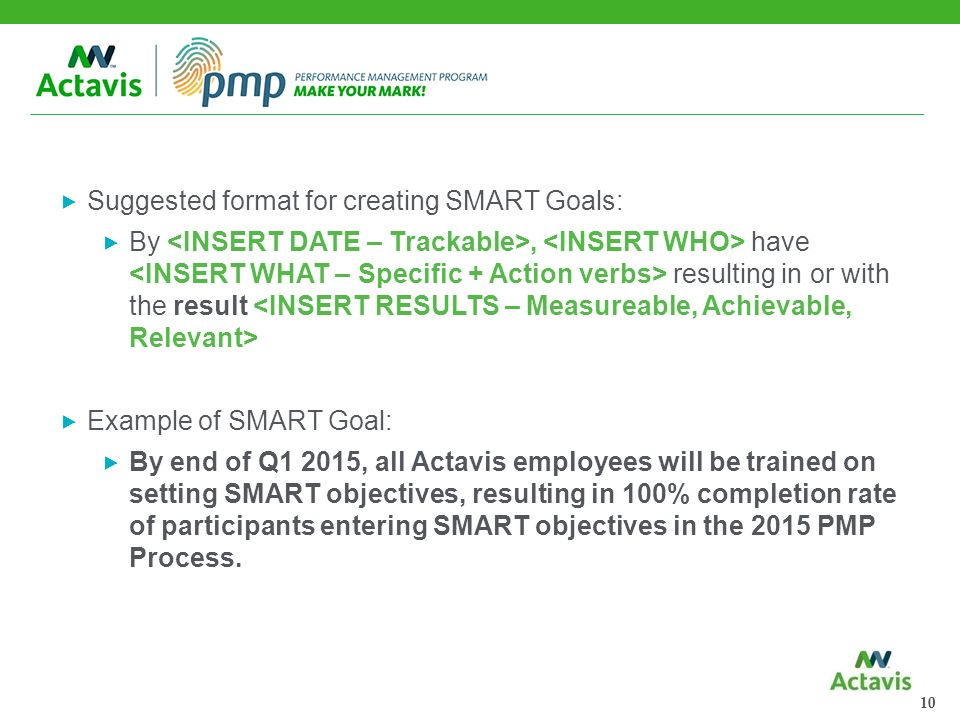 Setting smart goals ppt download for Smart goals template for employees