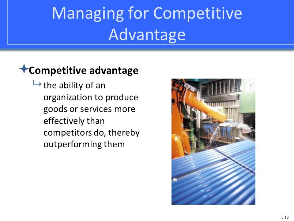 Managing for Competitive Advantage