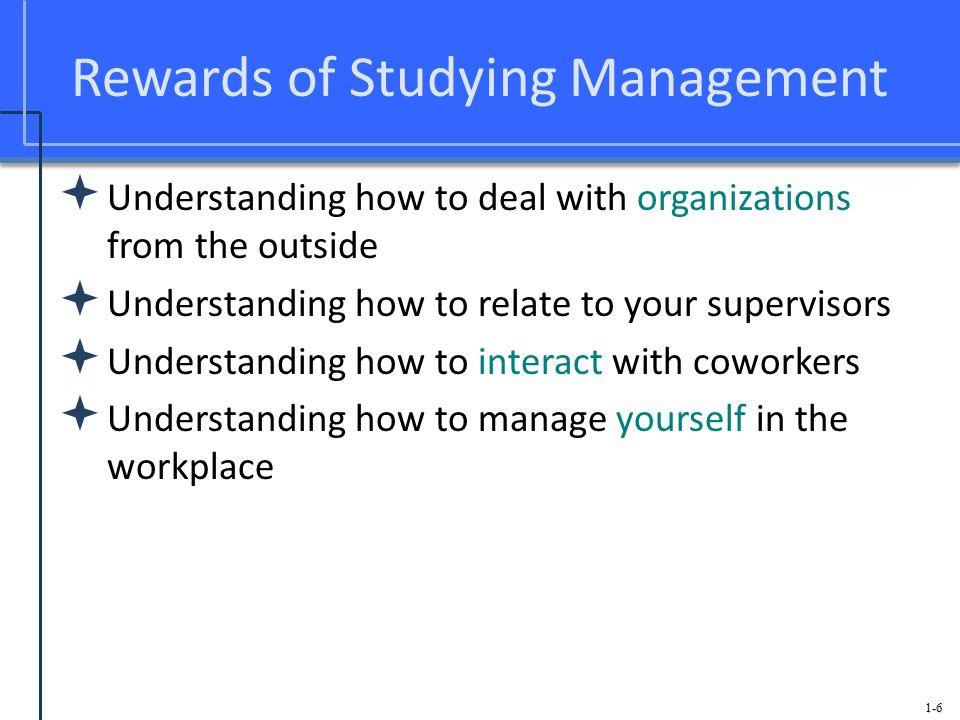 Rewards of Studying Management