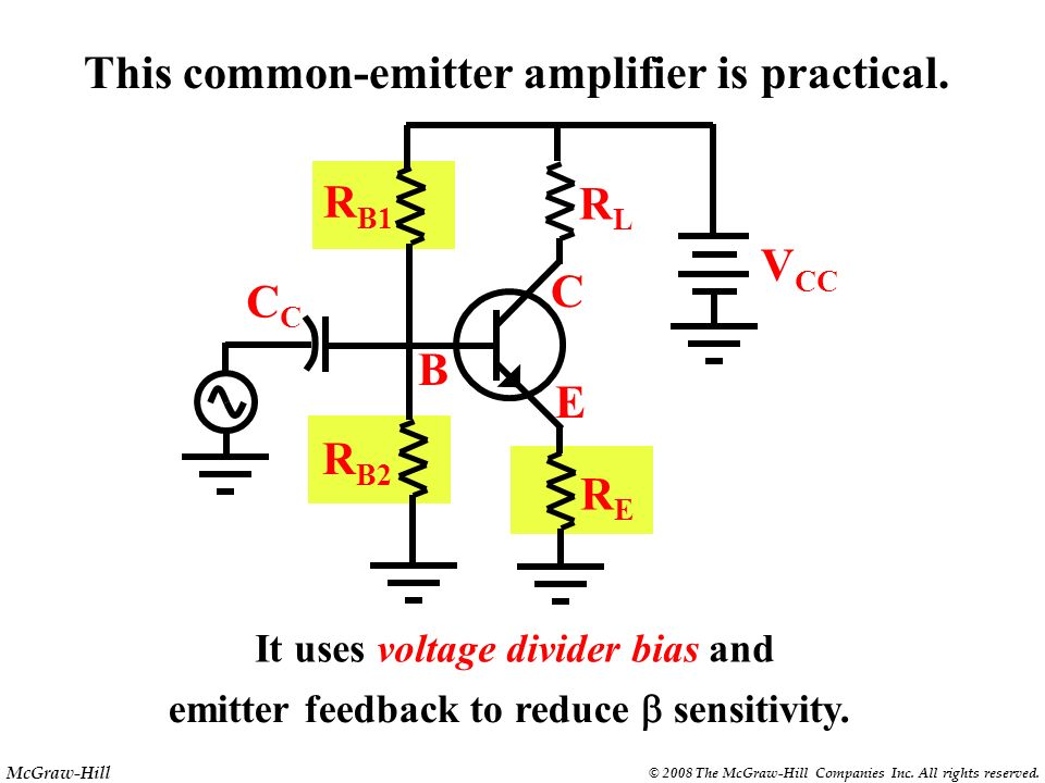 This common-emitter amplifier is practical.