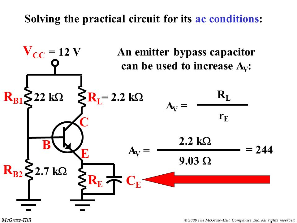 An emitter bypass capacitor can be used to increase AV: