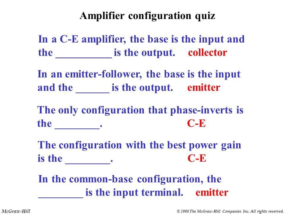 Amplifier configuration quiz