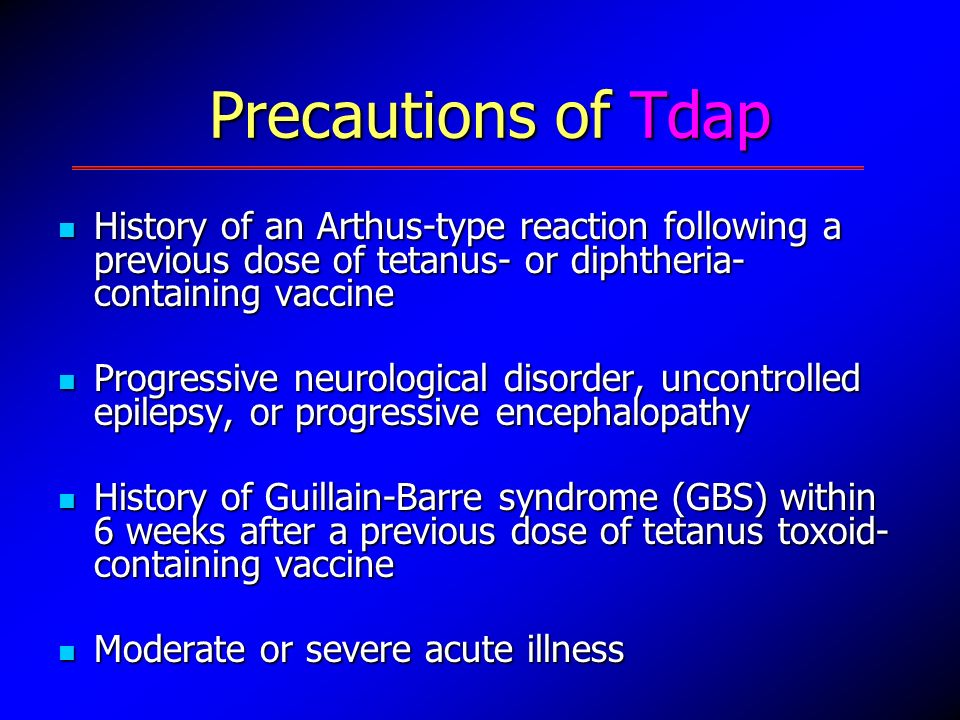 Tdap injection with allergy to latex
