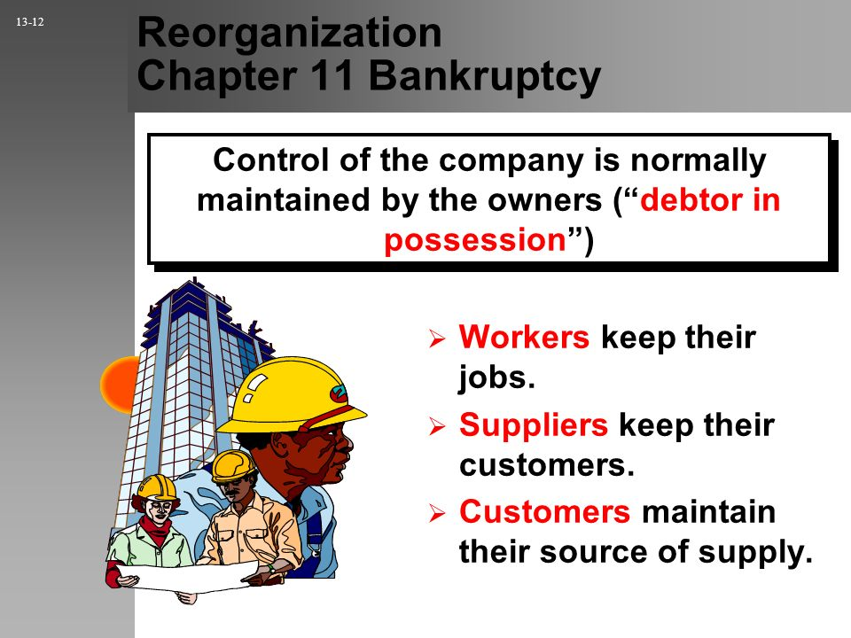 Reorganization Chapter 11 Bankruptcy