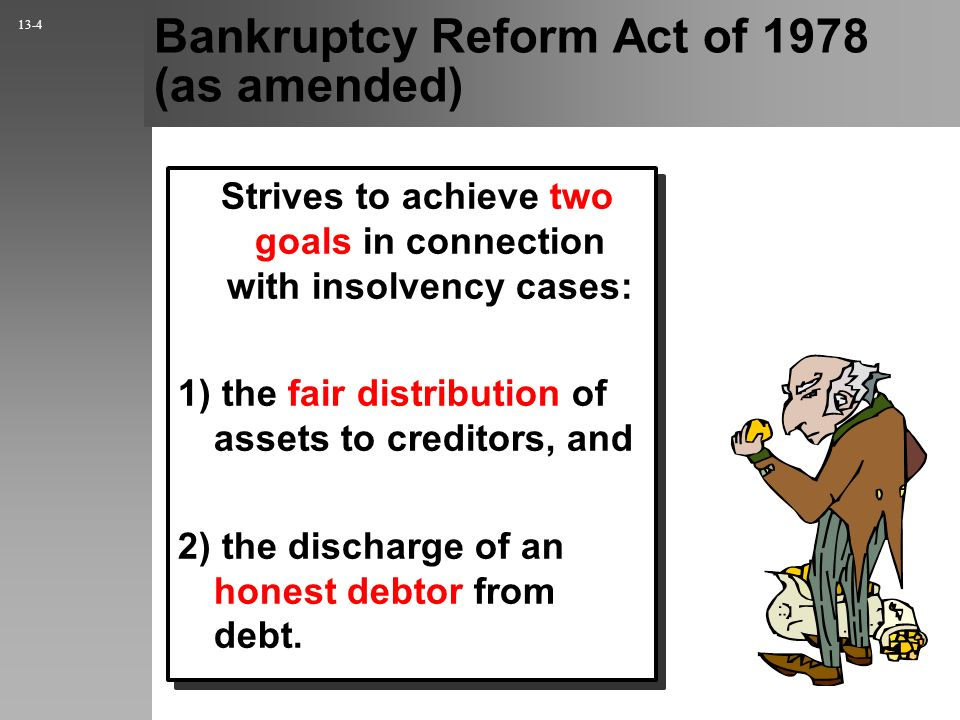 Bankruptcy Reform Act of 1978 (as amended)