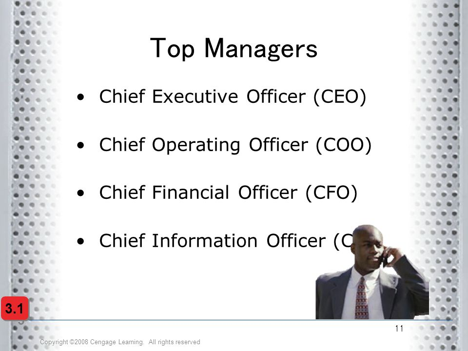 Top Managers Chief Executive Officer (CEO)