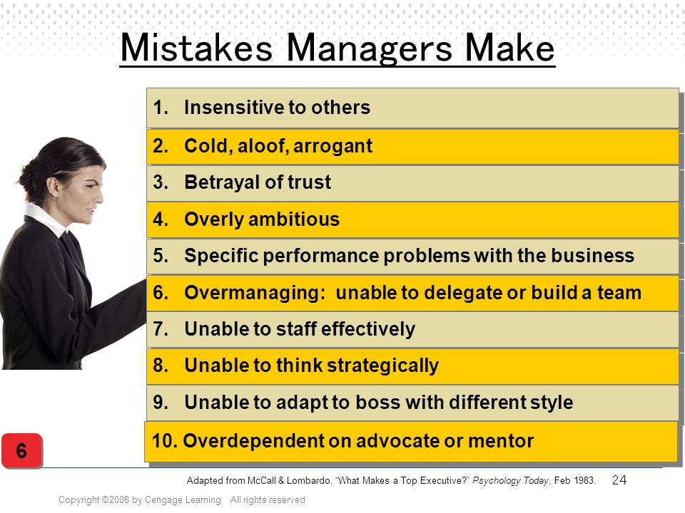 Mistakes Managers Make