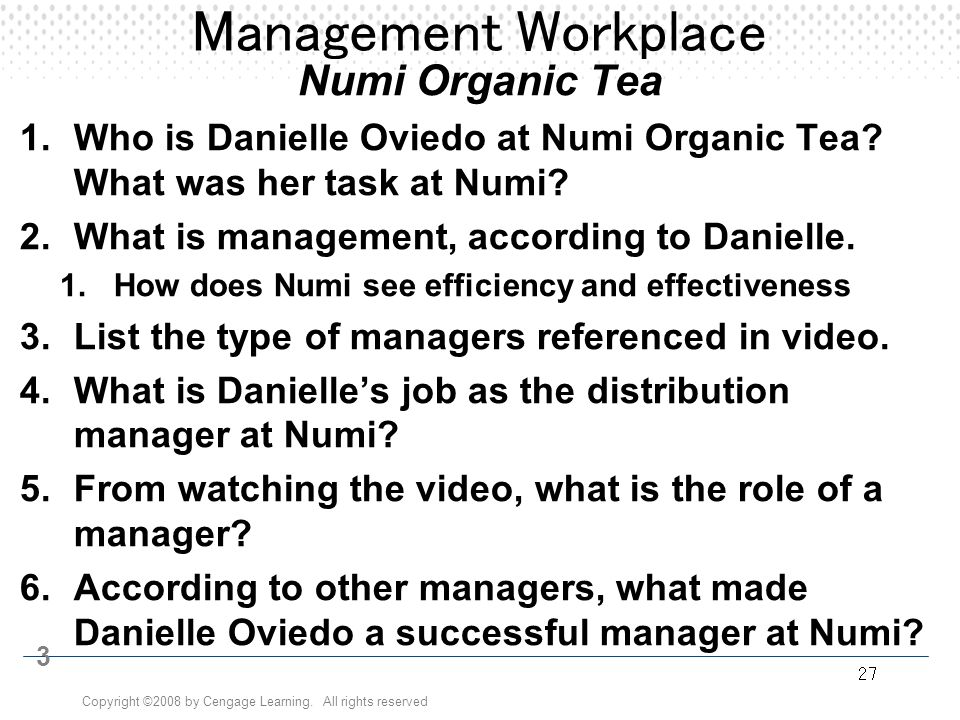 Management Workplace Numi Organic Tea