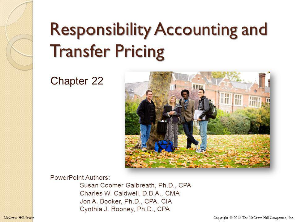 Responsibility Accounting and Transfer Pricing