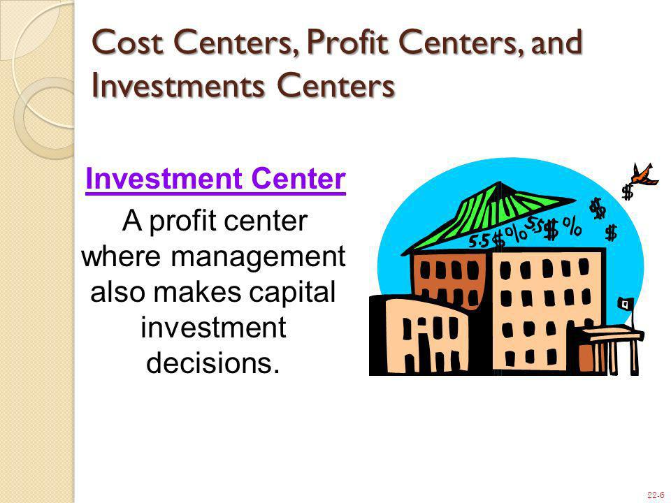 Cost Centers, Profit Centers, and Investments Centers