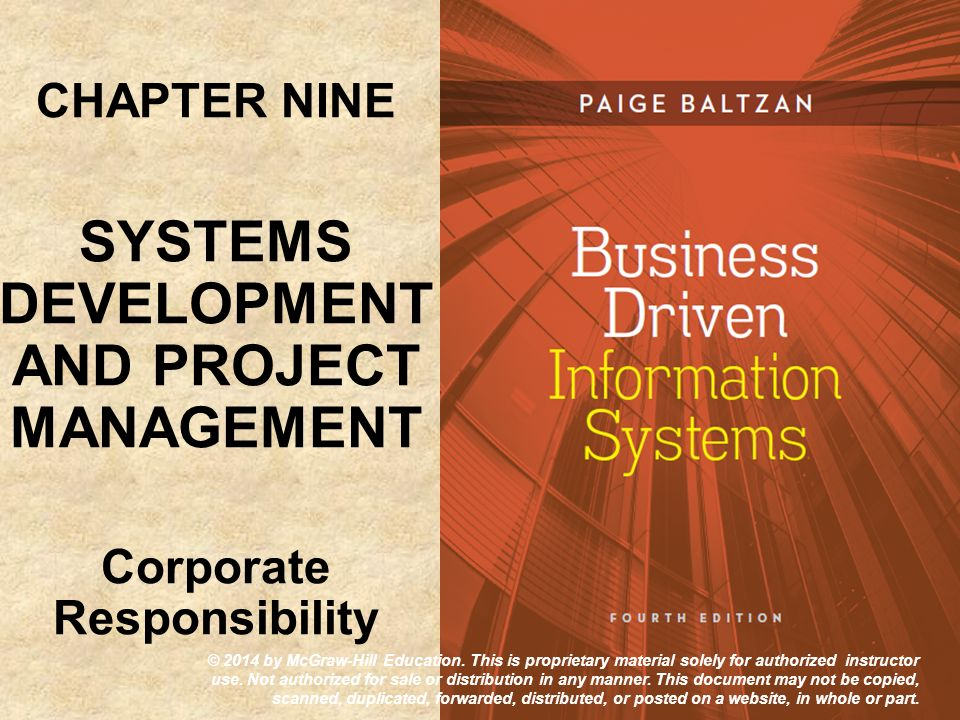 SYSTEMS DEVELOPMENT AND PROJECT MANAGEMENT Corporate Responsibility