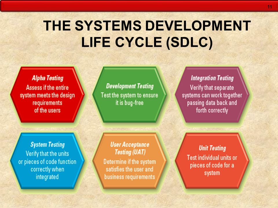 THE SYSTEMS DEVELOPMENT LIFE CYCLE (SDLC)