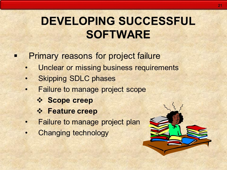 DEVELOPING SUCCESSFUL SOFTWARE